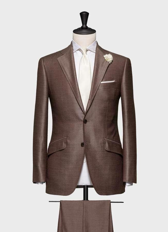 Серо-коричневый свадебный костюм