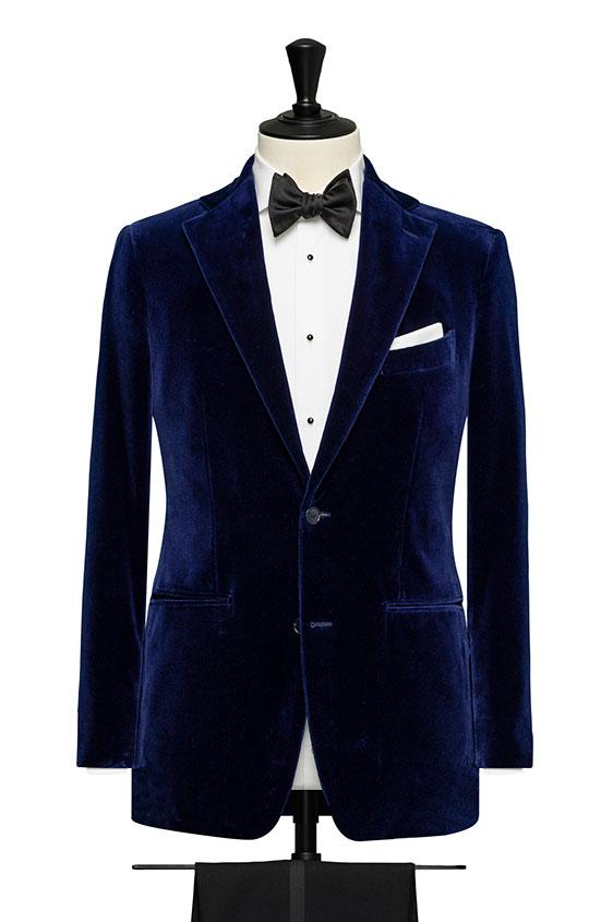 Синий бархатный пиджак