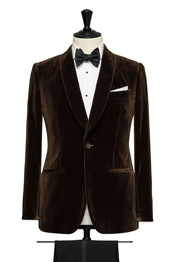 Коричневый бархатный пиджак
