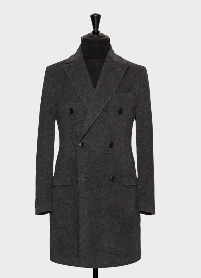 Серое демисезонное пальто