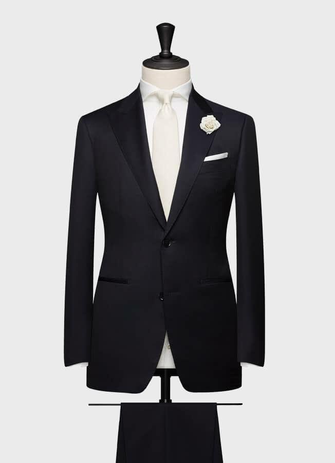 Черно-синий свадебный костюм
