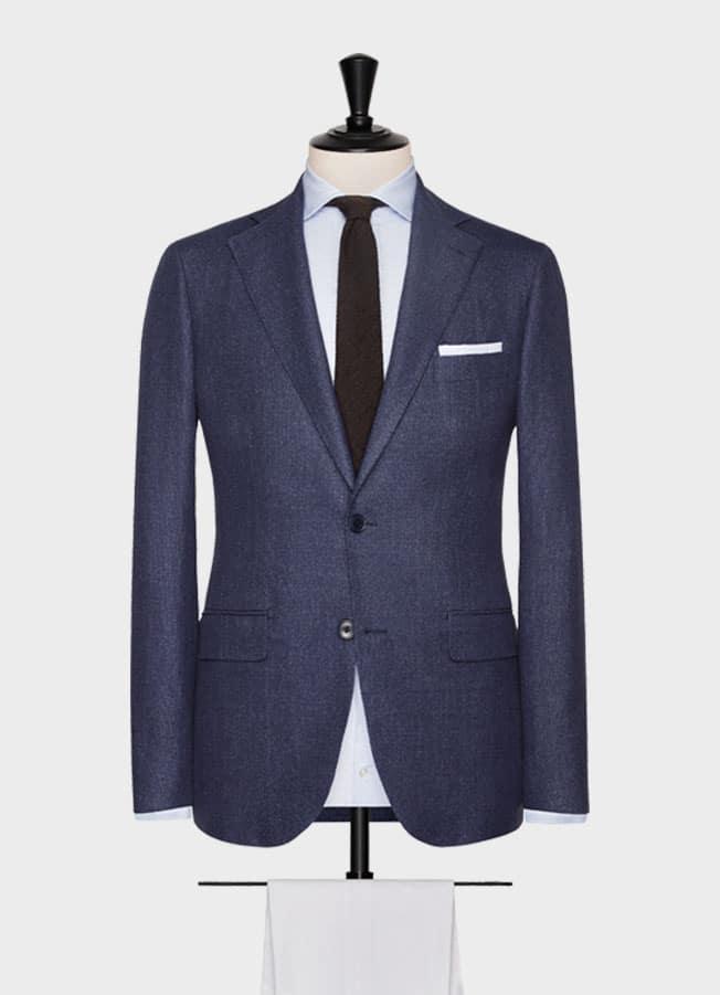 Пиджак темно-синий с зернистой фактурой