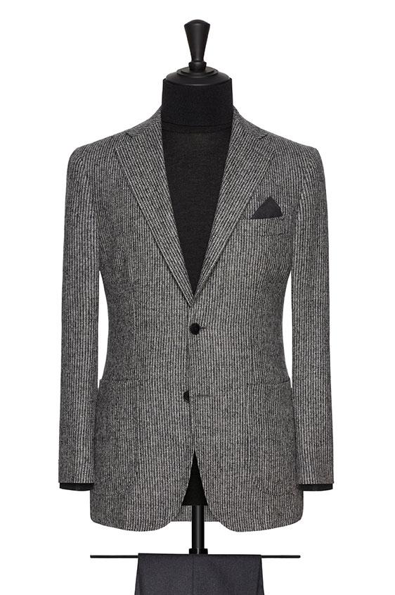 Пиджак серый в мелкую полоску
