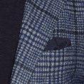 Пиджак синий в контрастную крупную клетку