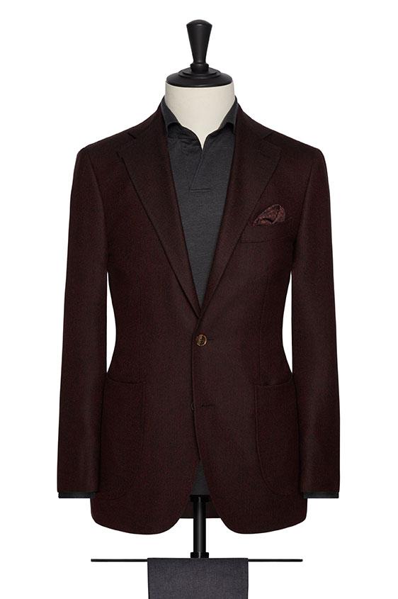 Пиджак темно-коричневый