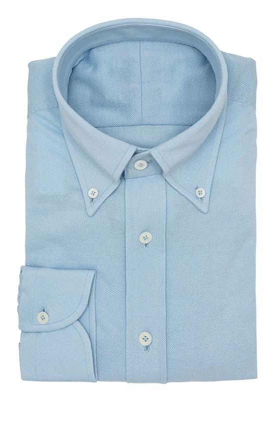 Сорочка-поло голубая