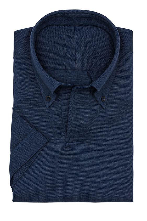 Сорочка-поло синяя