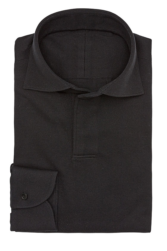 Сорочка-поло черная