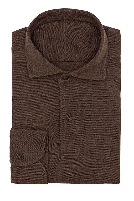 Сорочка коричневая