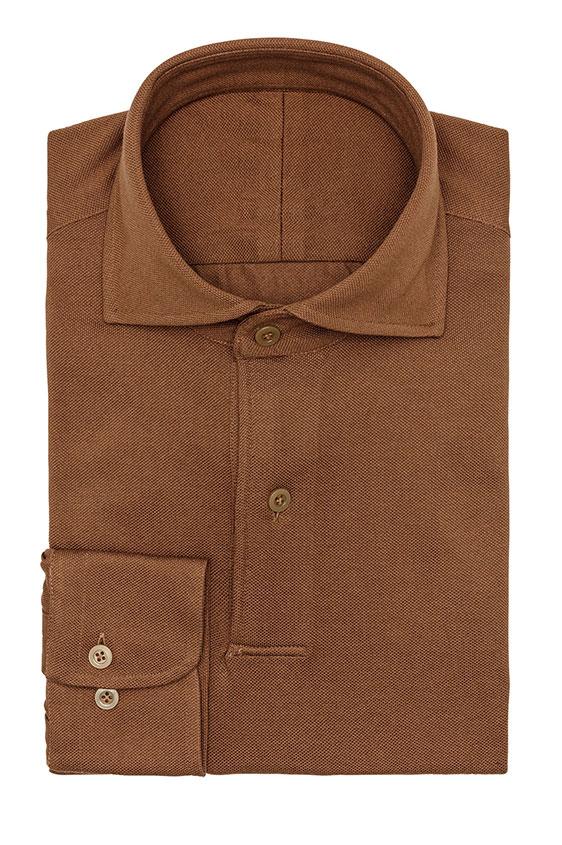 Сорочка-поло цвета карамель