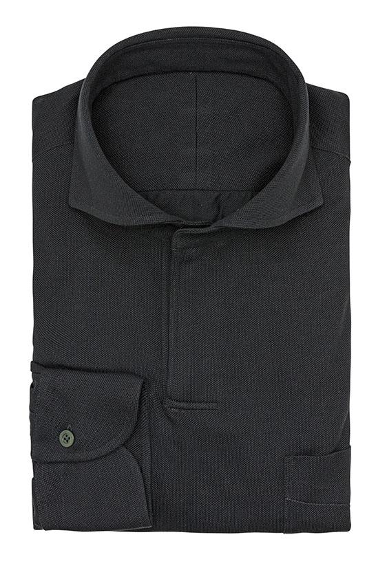 Сорочка-поло темно-серая