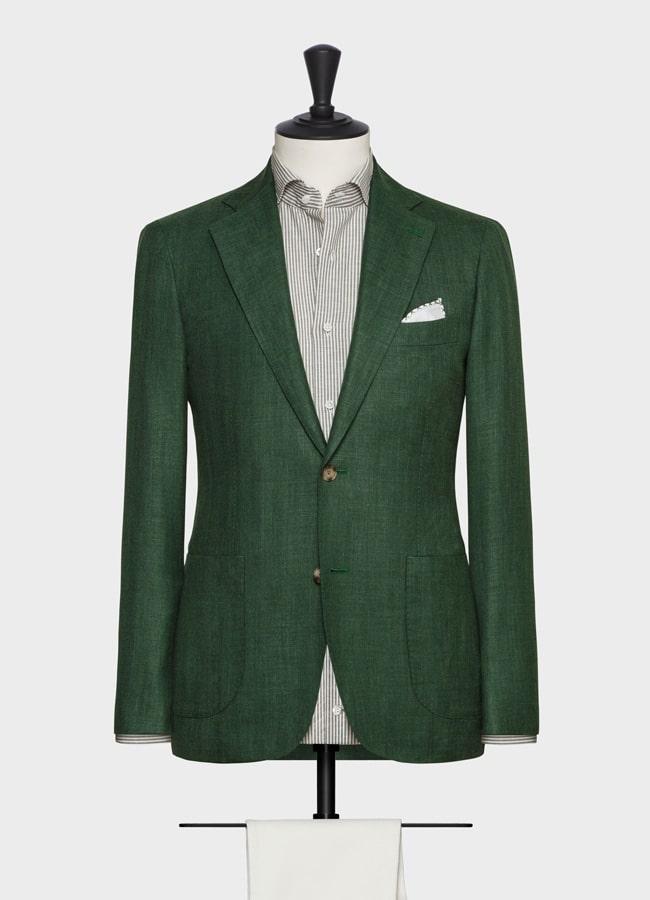 """Пиджак ярко-зеленый в """"елочку"""""""