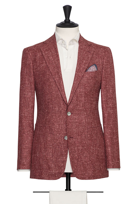 Пиджак пыльно-красный