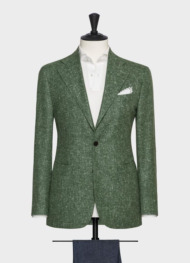 Пиджак светло-зеленый фактурный