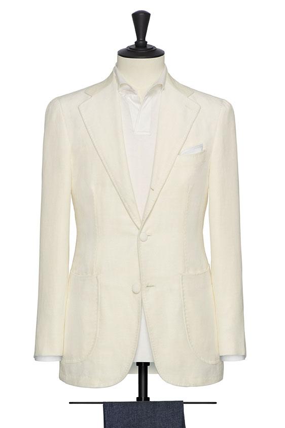 Пиджак белый бархатистый
