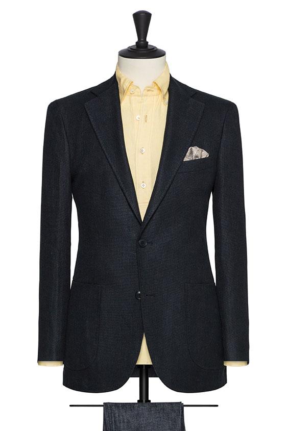 Пиджак темно-синий
