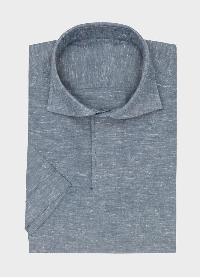 Сорочка бело-голубая оксфорд