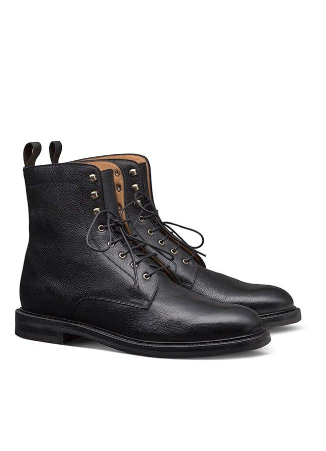 Черные ботинки в стиле милитари