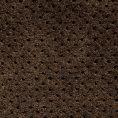 Кеды пенни лоферы темно-коричневые из перфорированной замши