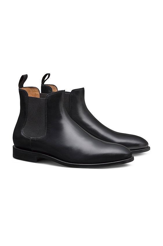 Черные ботинки челси из кожи