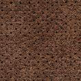 Темно-коричневые кеды из перфорированной замши