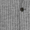 Серый фланелевый костюм в двойную белую полоску