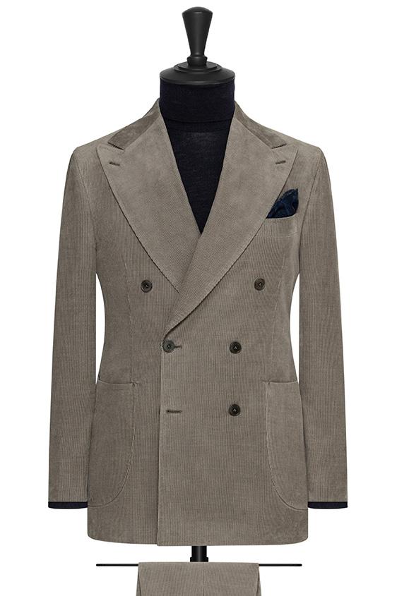 Серый вельветовый костюм