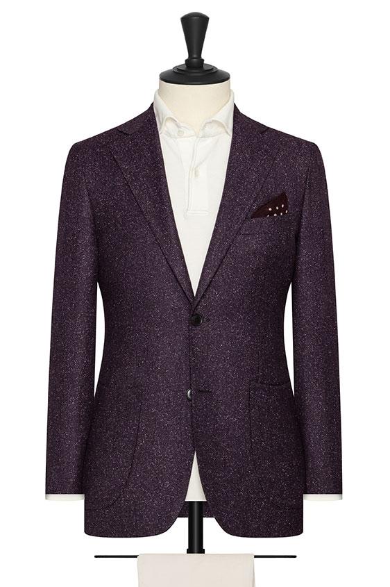 Темно-фиолетовый пиджак с белыми вкраплениями