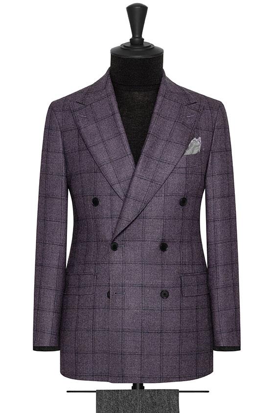Фиолетовый пиджак в крупную клетку