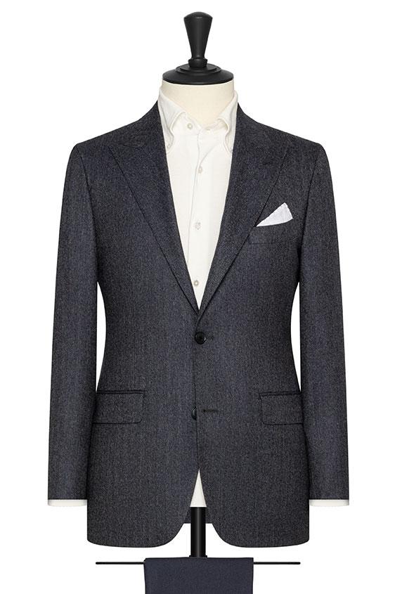 Серо-синий пиджак в елочку