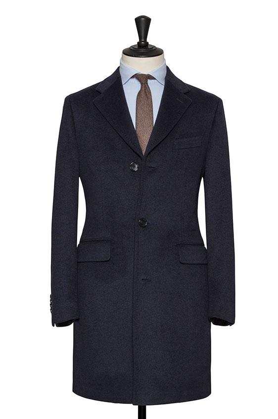 Синее пальто из кашемира