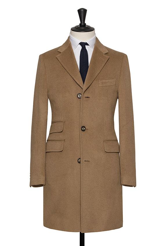 Светло-коричневое пальто из кашемира