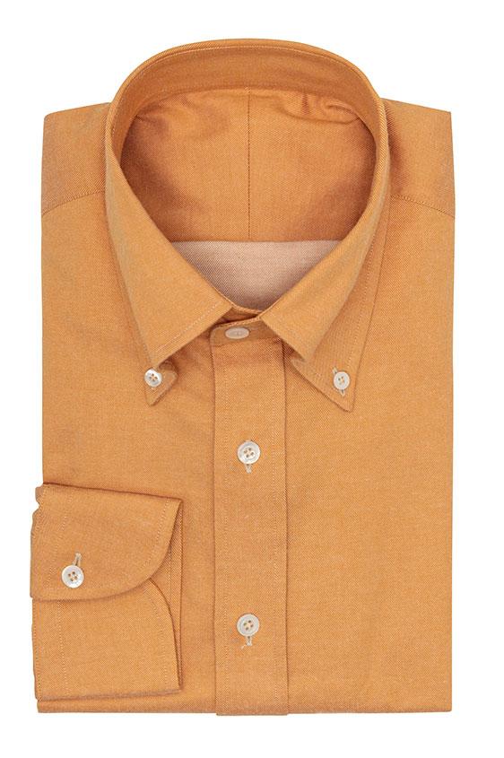 Светло-оранжевая сорочка со стрейчем