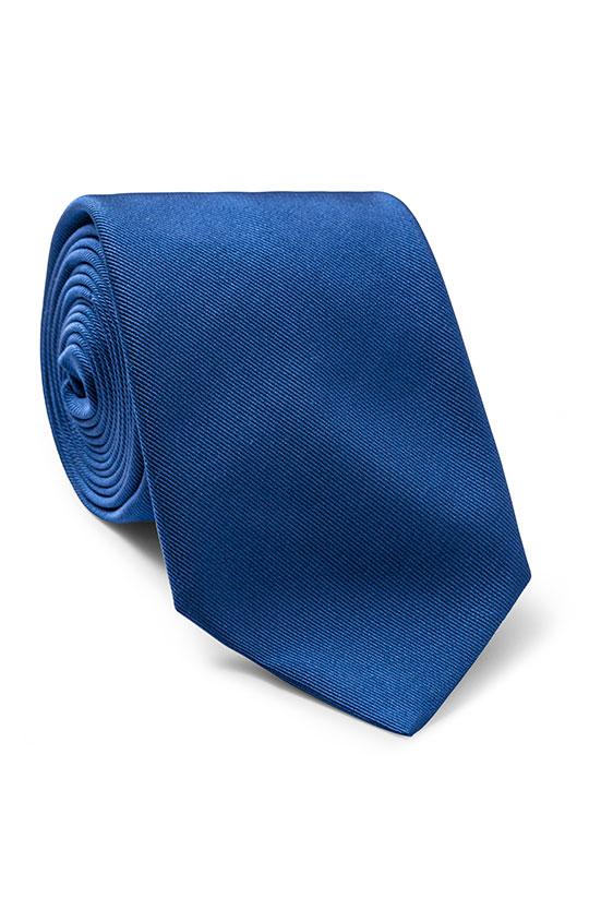 Ярко-синий галстук