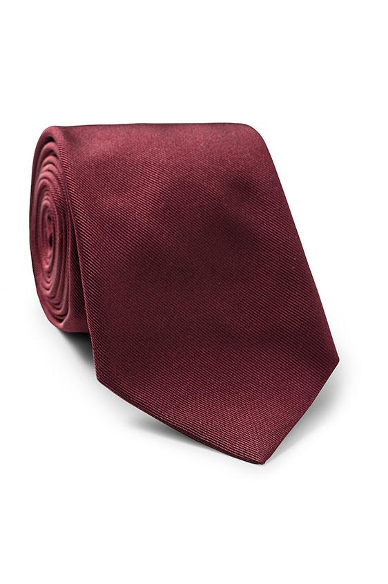Темно-красный галстук