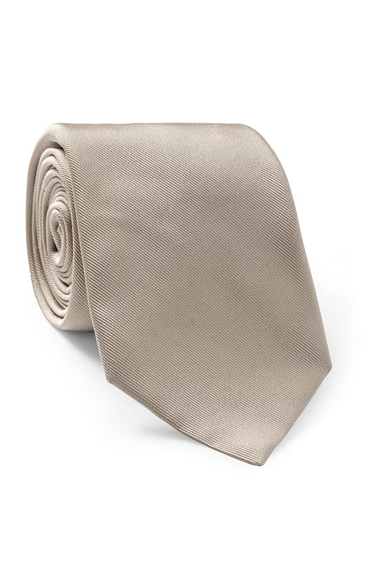 Бежевый галстук из шёлка