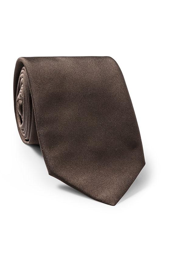Темно-коричневый галстук