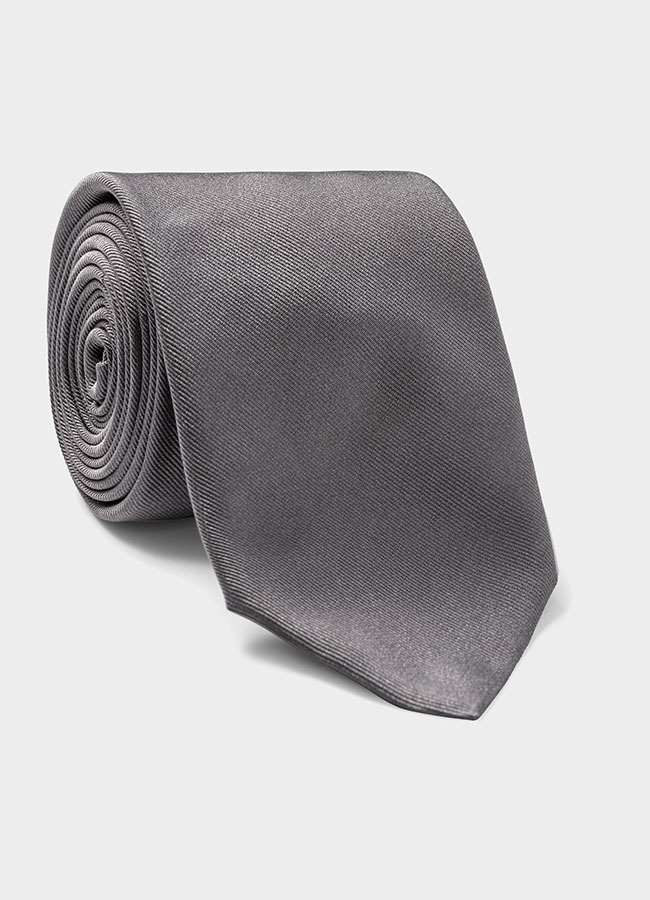 Серый шелковый галстук