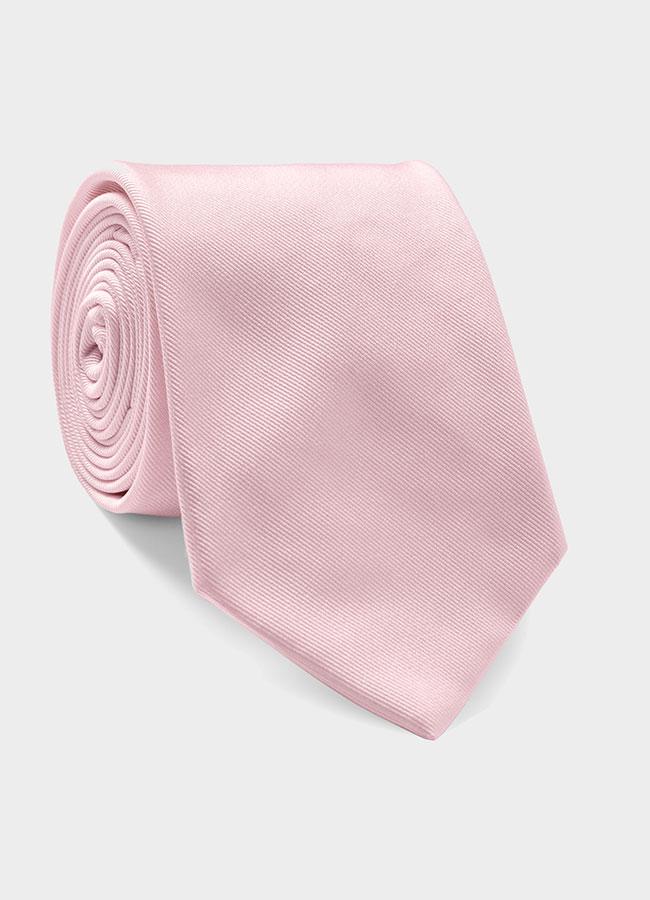 Бледно-розовый шелковый галстук