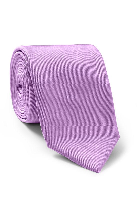 Лиловый галстук из шёлка