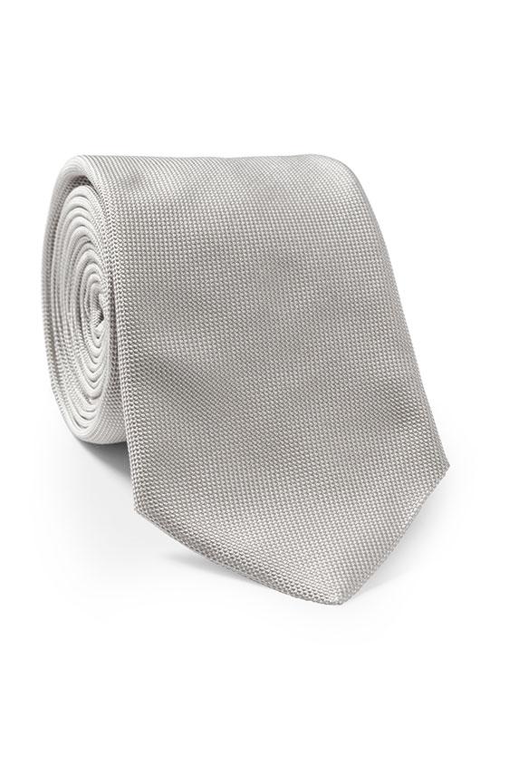 Серебряный свадебный галстук