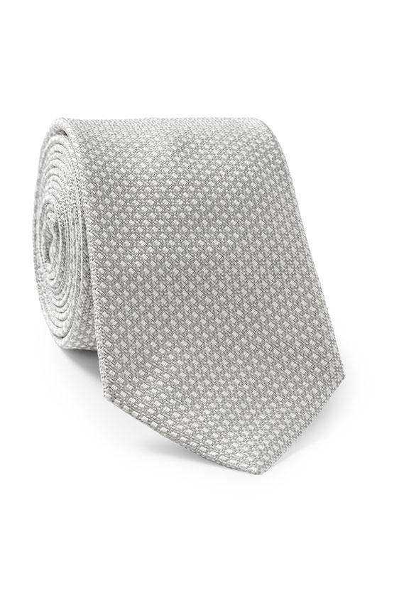 Серебряный галстук с белыми вкраплениями
