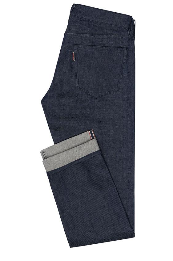 Мужские синие джинсы из сырого денима selvedge