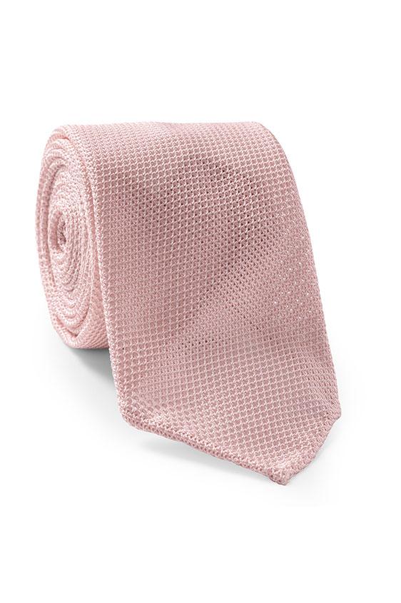 Розовый галстук плетеной фактуры