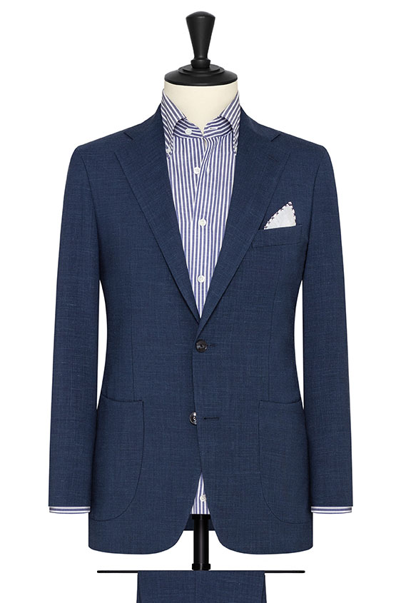 Темно-синий костюм с эффектом стрейч