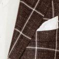 Коричневый пиджак в двойную клетку