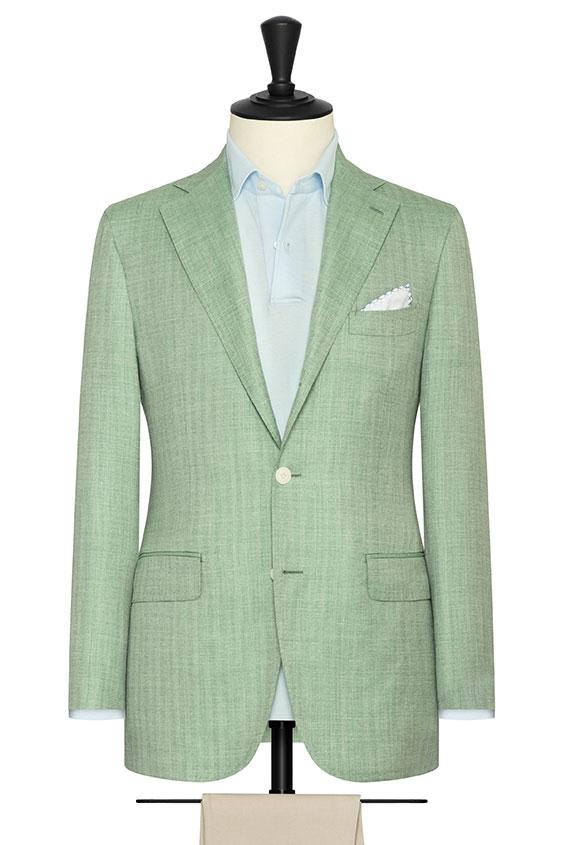 Зеленый пиджак в елочку