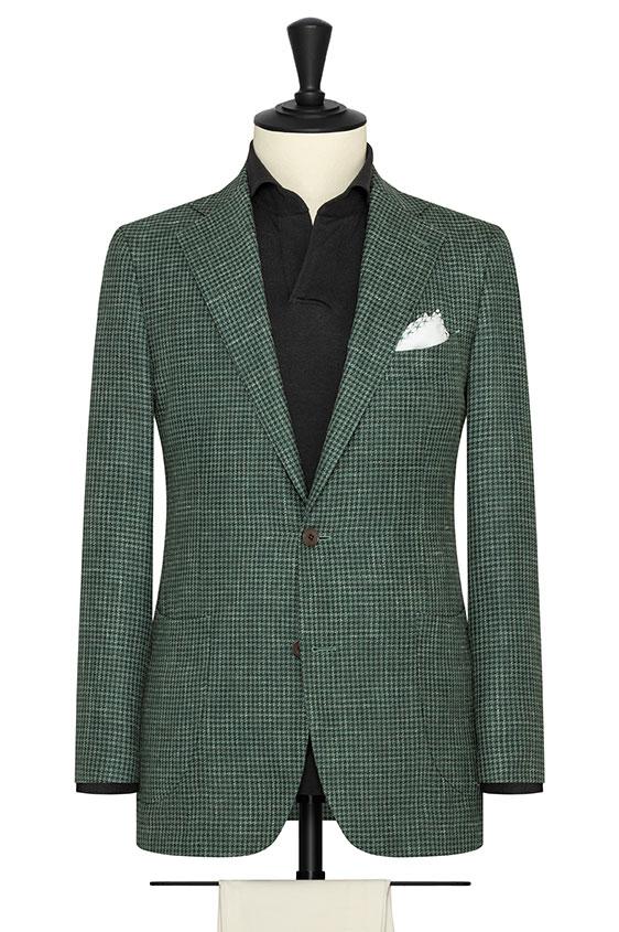Зеленый пиджак в гусиную лапку