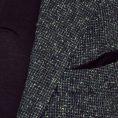 Зелено-синий пиджак с объемной фактурой