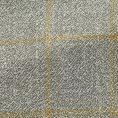 Серый пиджак в желтую клетку структуры твил